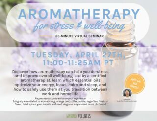 The Essential Oils hype is real! Today's virtual seminar was led by a certified aromatherapist. She shared information with us about how essential oils improve your energy, focus, stress, and sleep. Aromatherapy uses plants to promote well-being and the fan favorites are lavender, tea tree oil, and eucalyptus. What's your favorite? #essentialoils #aromatherapy #positivemind #energy #stressrelief #moresleepplease #lifeatoutlook #virtualseminar