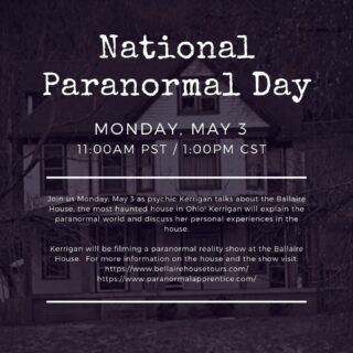 It's National Paranormal Day! Outlook employee's got an inside look at the history of The Bellaire House Afterlife Research Center from Psychic Kerrigan. During the event, we learned about the paranormal world and the paranormal experiences Kerrigan has encountered since purchasing the haunted house. #hauntedhouse #californiapsychics #nationalparanormalday #lifeatoutlook #bellairehouse
