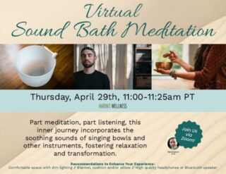 Grab your headphones and dim the lights, it's time to meditate! Today's virtual seminar is equal parts meditation and listening to soothing sounds to foster relaxation and transformation. This is a perfect way to end Stress Awareness Month. If you're feeling anxious, turn on some soothing sounds to calm your body and mind. #lifeatoutlook #soundbath #meditate #positivemind #stressrelief #escape