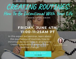 Did you know we subconsciously create daily routines that then develop into habits?   In last week's expert-led virtual seminar, we discussed the importance of being intentional with our life by highlighting the positive and negative habits we sometimes develop. We then learned how to make changes when needed. Our instructor, Kaitlin, deep dove into the psychology of routines and explained how they can turn into both positive and negative habits. She also explained how to minimize decision fatigue and how to turn those poorly developed habits into positive ones with small steps.    This short seminar is an example of how here at Outlook, we strive to provide our employees with enriching tools that can help any aspect of life!   #lifeatoutlook #virtualseminar #creatingroutines #habits #marinowellness