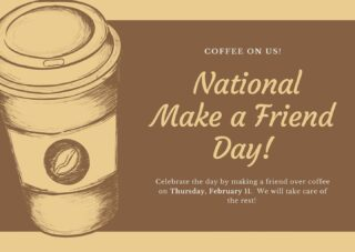 It's National Make a Friend Day! Today we were set up on blind coffee dates at Outlook Amusements. The best part is we got Starbucks gift cards, just for showing up on Zoom, what a deal! I assure you that work besties are in the making! If you see someone without a smile today, give them some of yours! #nationalmakeafriendday #lifeatoutlook #makeafriend #workbesties #butfirstcoffee #starbucks