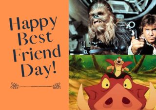 Happy National Best Friends Day!   Who is your favorite best friend duo?  We took a poll on Slack and it was a close call between these two besties, who do you think won?  #lifeatoutlook  #bff #bestfriendsday #hansolo #chewbacca #timonandpumbaa